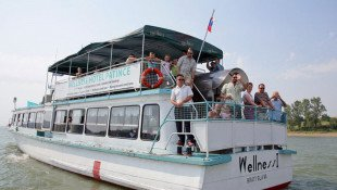 Sightseeing tour by boat from Patince